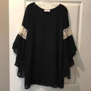 Black dress/tunic with lace